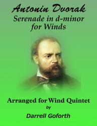 Cover art for Clarinet in B^b part from Serenade for Winds in d-minor for Wind Quintet Mvmt 2 Menuetto