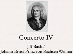 Cover art for Bach/Ernst Organ/Violin Concerto IV arr Piano Duet