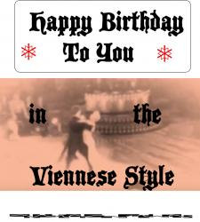 Cover art for Viola part from Happy Birthday in the Viennese Style