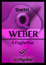 Cover art for 6 Fughettas for guitar quartet