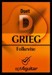 Cover art for Guitar 1 part from Folkevise for guitar duet