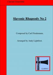 Cover art for Clarinet 1 part from SLAVONIC RHAPSODY No. 2