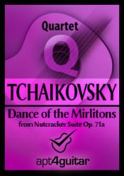 Cover art for Dance of the Mirlitons for guitar quartet
