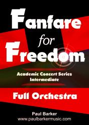 Cover art for Trumpet 1&2 in B^b part from Fanfare for Freedom (Full Orchestral Version)