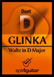 Cover art for Guitar 1 part from Waltz in D Major for guitar duet