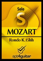 Cover art for Rondo K.15hh for solo guitar