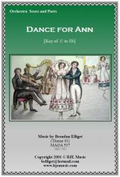 Cover art for Bassoon part from Dance for Ann (Theme 61)  - Orchestra