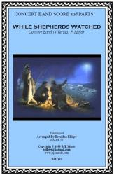 Cover art for String Bass part from While Shepherds Watched (Christmas) - Concert Band