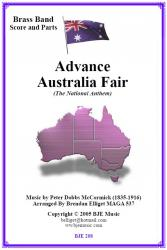 Cover art for Soprano Cornet in E^b part from Advance Australia Fair (The National Anthem) Brass Band