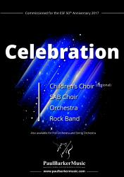 Cover art for Violin 2 part from Celebration (SAB Choir- Orchestra - Rock Band)