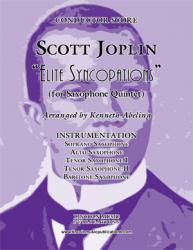 Cover art for Tenor Sax II part from Joplin - Elite Syncopations (for Saxophone Quintet SATTB)