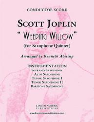 Cover art for Alto Saxophone part from Joplin - Weeping Willow (for Saxophone Quintet SATTB)