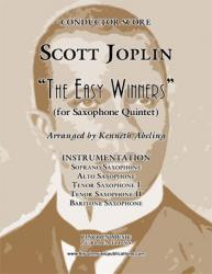 Cover art for Tenor Sax 3 part from Joplin - The Easy Winners (Saxophone Quintet SATTB)