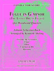 "Cover art for Clarinet in B^b part from Bach - Fugue in G minor - ""The Little Organ Fugue"" (Woodwind Quartet)"