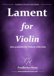 Cover art for Violin Solo part from Lament for Violin