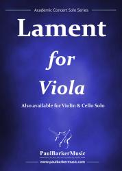 Cover art for Piano part from Lament for Viola