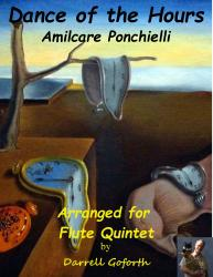 Cover art for Flute II part from Dance of the Hours for Flute Quintet