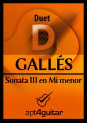 Cover art for Guitar 2 part from Sonata III en Mi menor for guitar duet