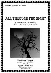 Cover art for Trumpet 2 in B^b part from All Through The Night - Orchestra with SATB Choir