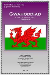 Cover art for Gwahoddiad (I Hear Thy Welcome Voice) - Orchestra with SATB Choir