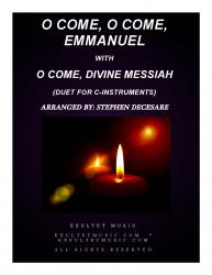 Cover art for em2cpart part from O Come, O Come, Emmanuel with O Come, Divine Messiah (Duet for C-Instruments)
