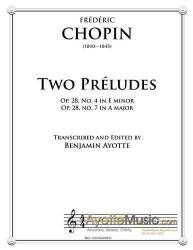 Cover art for Chopin - Two Preludes (E minor and A major)