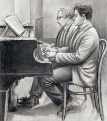 Cover art for Secondo part from Vocalise Op. 34, No. 14 for piano 4-hands