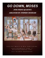 Cover art for string 4parts part from Go Down, Moses (for String Quartet)