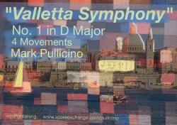 "Cover art for Viola part from Pullicino Mark, ""Valletta Symphony"" No1 in D major, 4 Movements"