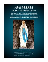 Cover art for Ave Maria Trumpet Duet Parts part from Ave Maria (Duet for Bb-Trumpet)