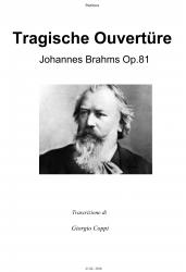 Cover art for Sax Contralto 1.mus part from Ouverture Tragica - J. Brahms