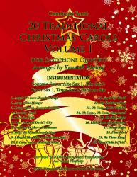 Cover art for Baritone Saxophone part from 20 Traditional Christmas Carols Volume I (for Saxophone Quintet SATTB or AATTB)