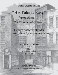 Cover art for Flute part from Handel - Messiah - His Yoke is Easy (for Woodwind Quartet)