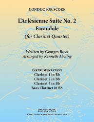 Cover art for Clarinet 3 in Bb part from Bizet - L'Arl̩sienne Suite No. 2 - Farandole (for Clarinet Quartet)