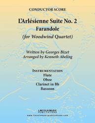 Cover art for Clarinet in Bb part from Bizet - L'Arl̩sienne Suite No. 2 - Farandole (for Woodwind Quartet)