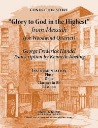 "Cover art for Handel - ""Glory To God in the Highest"" - (from Messiah) (for Woodwind Quartet)"