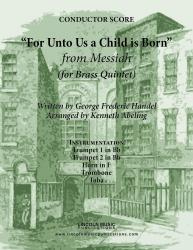Cover art for Horn in F part from Handel - For Unto Us A Child Is Born (from Messiah) (for Brass Quintet)