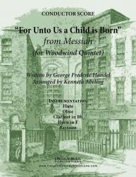 Cover art for Oboe part from Handel - For Unto Us A Child Is Born (from Messiah) (for Woodwind Quintet)