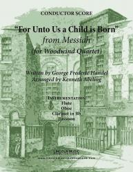 Cover art for Clarinet in Bb part from Handel - For Unto Us A Child Is Born (from Messiah) (for Woodwind Quartet)