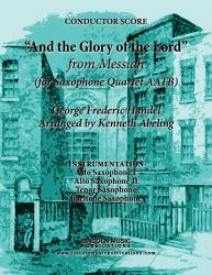 "Cover art for Tenor Saxophone part from Handel - ""And the Glory of the Lord"" - from Messiah (for Saxophone Quartet AATB)"