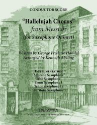 Cover art for Handel - The Hallelujah Chorus - from Messiah (for Saxophone Quintet SATTB)