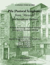Cover art for Tenor Sax 3 part from Handel - Pifa (Pastoral Symphony) - from Messiah (for Saxophone Quintet SATTB or AATTB)