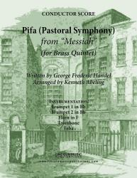 Cover art for Trumpet 2 in Bb part from Handel - Pifa (Pastoral Symphony) - from Messiah (for Brass Quintet)