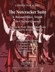 "Cover art for Clarinet 2 in Bb part from The Nutcracker - 4. Russian Dance, ""Tr̩pak"" (for Clarinet Quartet)"