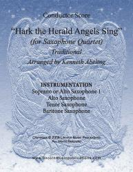 Cover art for HTHAS - 04 Bar part from Jazz Christmas Carol - Hark The Herald Angels Sing (Saxophone Quartet SATB or AATB)