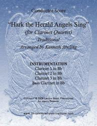 Cover art for HTHA 03 CL3 part from Jazz Christmas Carol - Hark The Herald Angels Sing (Clarinet Quartet)