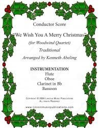 Cover art for Jazz Christmas Carol - We Wish You A Merry Christmas (Woodwind Quartet)