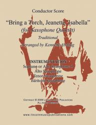 Cover art for Soprano Sax 1 part from Jazz Christmas Carol - Bring a Torch, Jeanette, Isabella (Sax Quartet SATB or AATB)