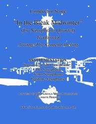 Cover art for Alto Saxophone for Soprano Saxophone part from In the Bleak Midwinter (for Saxophone Quartet SATB or AATB)