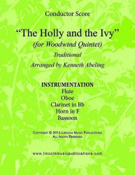 Cover art for Flute part from The Holly and the Ivy (Woodwind Quintet)